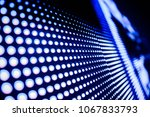 blue toned led wall close up | Shutterstock . vector #1067833793