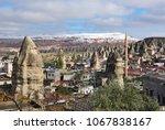 view on goreme village ... | Shutterstock . vector #1067838167