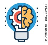 business concept for new ideas ... | Shutterstock .eps vector #1067839667