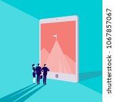 vector business concept... | Shutterstock .eps vector #1067857067