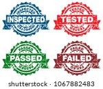 an image of a inspected tested... | Shutterstock .eps vector #1067882483