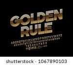 vector rotated text golden rule.... | Shutterstock .eps vector #1067890103