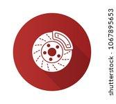 disc brake with caliper flat... | Shutterstock . vector #1067895653