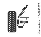 car suspension glyph icon.... | Shutterstock . vector #1067895677