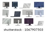 monitor set vector. different... | Shutterstock .eps vector #1067907503