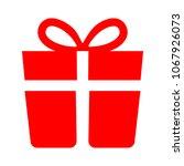 present icon  vector gift box   ... | Shutterstock .eps vector #1067926073