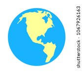 world icon - globe earth illustration, world map symbol