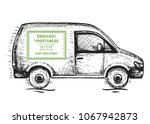delivery truck hand drawn ...   Shutterstock .eps vector #1067942873