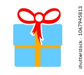 birthday gift box icon. present ... | Shutterstock .eps vector #1067945813
