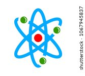 atom illustration isolated ... | Shutterstock .eps vector #1067945837