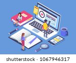 online education concept banner ... | Shutterstock .eps vector #1067946317