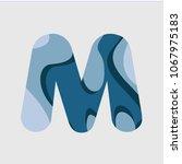m water font vector template... | Shutterstock .eps vector #1067975183
