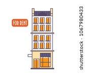 vector linear flat illustration ... | Shutterstock .eps vector #1067980433