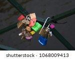 Small photo of Bundle of locks that symbolize love.
