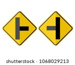 isolated intersection on the... | Shutterstock .eps vector #1068029213