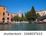 canal grande  grand near ponte... | Shutterstock . vector #1068037613