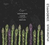 asparagus organic market design ... | Shutterstock .eps vector #1068049913