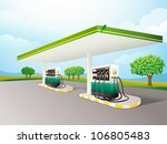 illustration of a gas station... | Shutterstock . vector #106805483