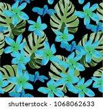 vector illustration of seamless ... | Shutterstock .eps vector #1068062633