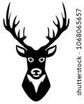 vector illustration of deer... | Shutterstock .eps vector #1068065657