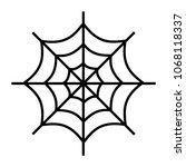 simple  flat  black spiderweb... | Shutterstock .eps vector #1068118337