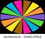 color wheel   segments of... | Shutterstock . vector #1068119063