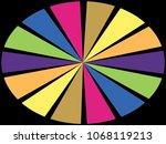 color wheel   segments of... | Shutterstock . vector #1068119213