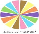color wheel   segments of... | Shutterstock . vector #1068119327