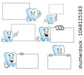 tooth character vector pack ...   Shutterstock .eps vector #1068125183