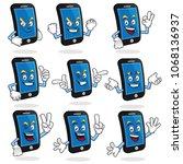 smart phone character vector...   Shutterstock .eps vector #1068136937