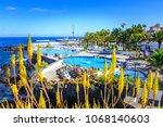 puerto de la cruz  tenerife ... | Shutterstock . vector #1068140603