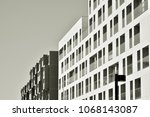 detail of a new modern... | Shutterstock . vector #1068143087