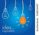 light bulb idea vector... | Shutterstock .eps vector #106814447