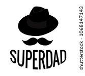 Abstract Super Dad   Shutterstock vector #1068147143