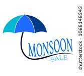 abstract monsoon sale | Shutterstock .eps vector #1068148343
