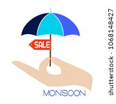 abstract monsoon sale | Shutterstock .eps vector #1068148427