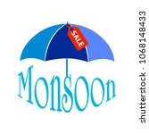 abstract monsoon sale | Shutterstock .eps vector #1068148433