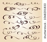 calligraphic elegant elements... | Shutterstock .eps vector #1068201833