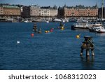 buoys  dolphins and  bollards... | Shutterstock . vector #1068312023