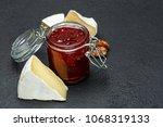 jam of raspberries and pieces... | Shutterstock . vector #1068319133