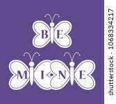 butterflies and inscription on...   Shutterstock .eps vector #1068334217