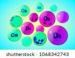 transparent vitamin d3 and... | Shutterstock . vector #1068342743
