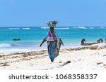 diani beach  mombasa  kenya  ... | Shutterstock . vector #1068358337