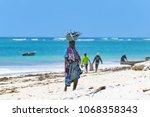 diani beach  mombasa  kenya  ... | Shutterstock . vector #1068358343