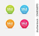 vector sale stickers set.... | Shutterstock .eps vector #106836893