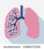 colorful human lungs icon.... | Shutterstock .eps vector #1068372203