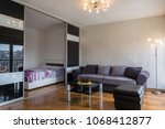 modern apartment interior with...   Shutterstock . vector #1068412877