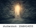 successful way out and problem... | Shutterstock . vector #1068414053