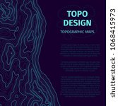 topographic map background with ...   Shutterstock .eps vector #1068415973