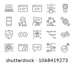 developer icon set. included... | Shutterstock .eps vector #1068419273